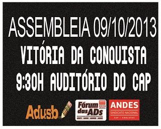 Edital de convocação de Assembleia Geral Extraordinária - Vit. da Conquista