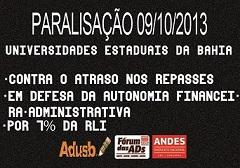 APROVADA PARALISAÇÃO NO DIA 09/10/2013