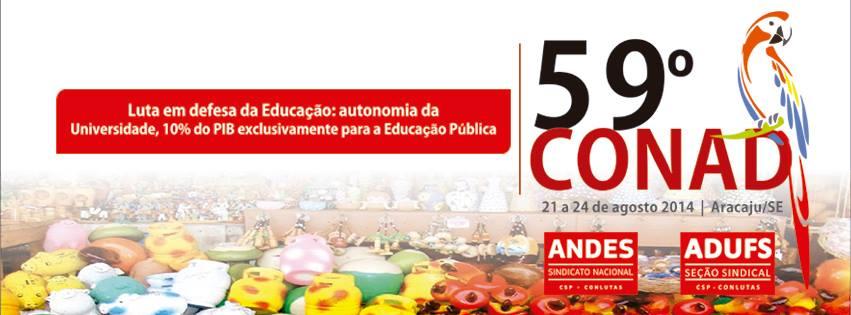 Professores de todo o país se reúnem em Aracaju (SE) no 59º Conad do ANDES-SN