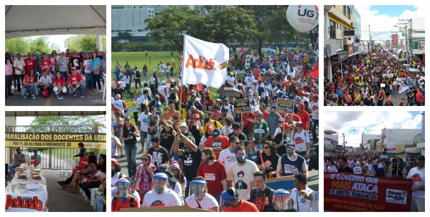 2017 é marcado pela luta do movimento docente baiano