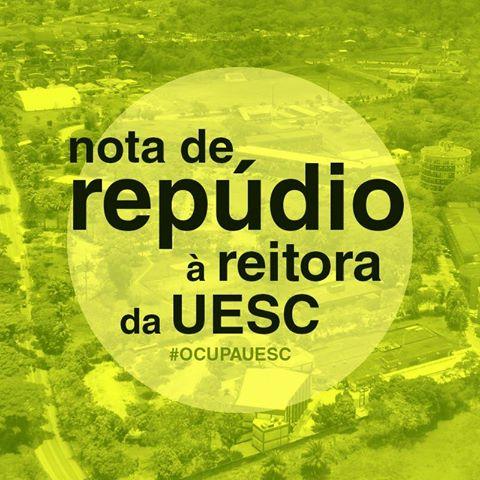 NOTA DE REPÚDIO À REITORA DA UESC