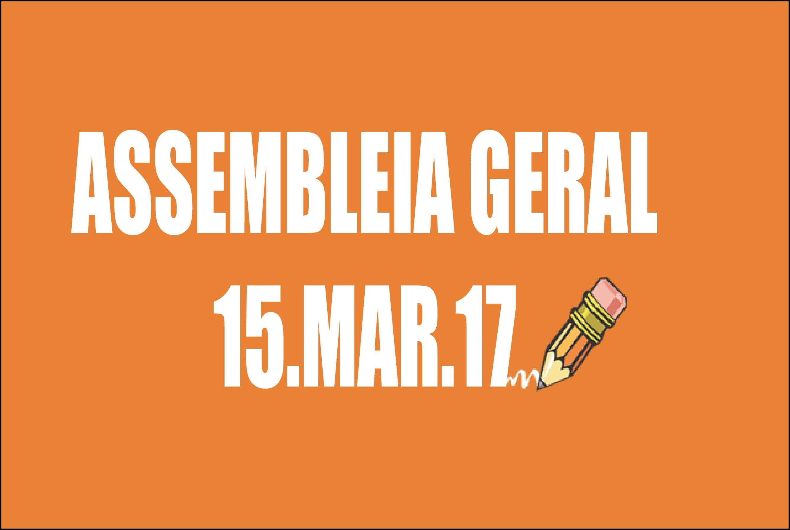 Edital de convocação de Assembleia Geral Extraordinária - 15 de março de 2017