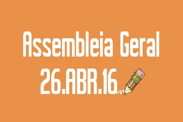 EDITAL DE CONVOCAÇÃO DE ASSEMBLEIA - 26 DE ABRIL DE 2016