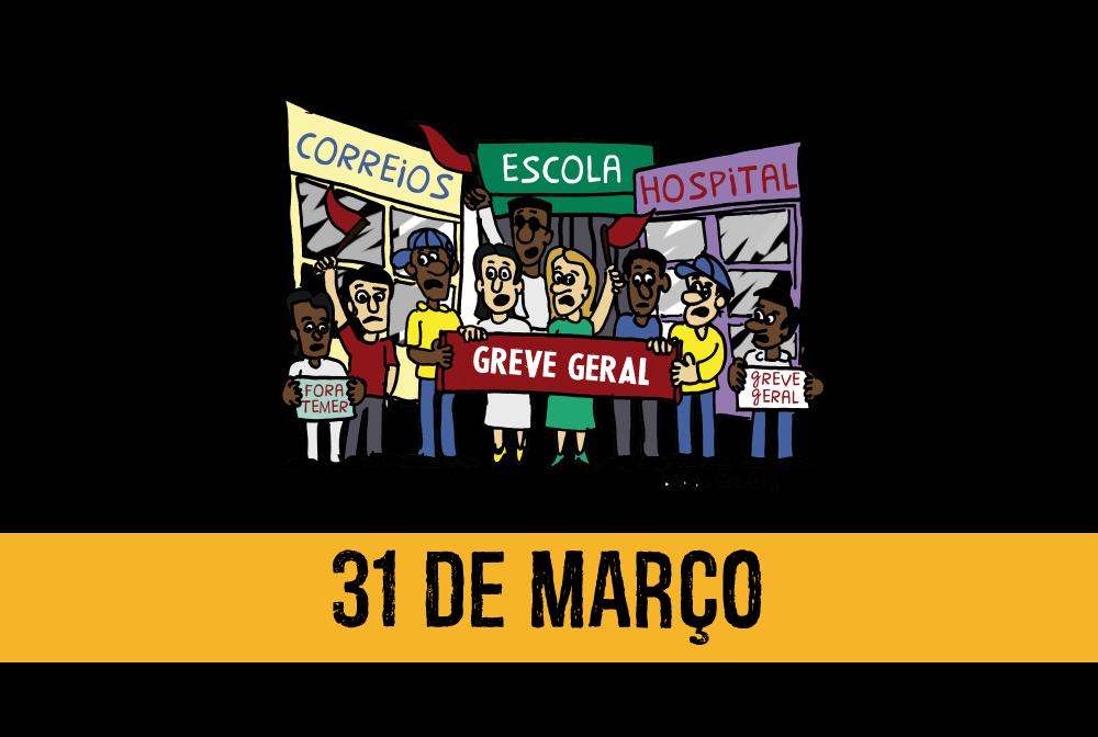 Confira a agenda de mobilização para o dia 31 de março