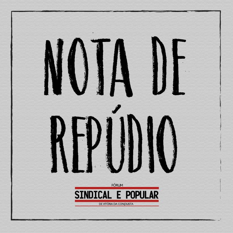 Nota do Fórum Sindical e Popular sobre a greve dos professores em Vitória da Conquista