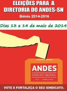 Eleições do Andes-SN serão realizadas na terça (13) e quarta (14)