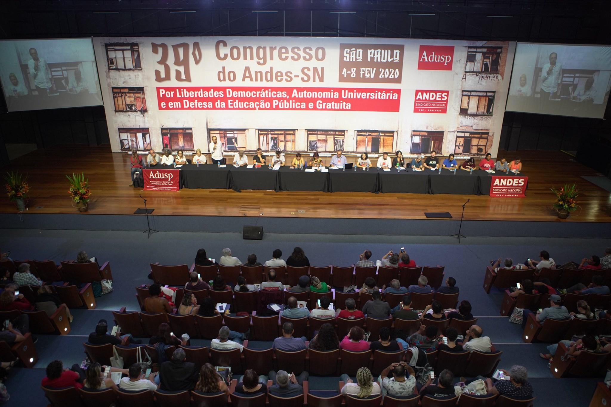 Adusb participa do 39º Congresso do Andes-SN, fortalecendo a democracia interna no sindicato