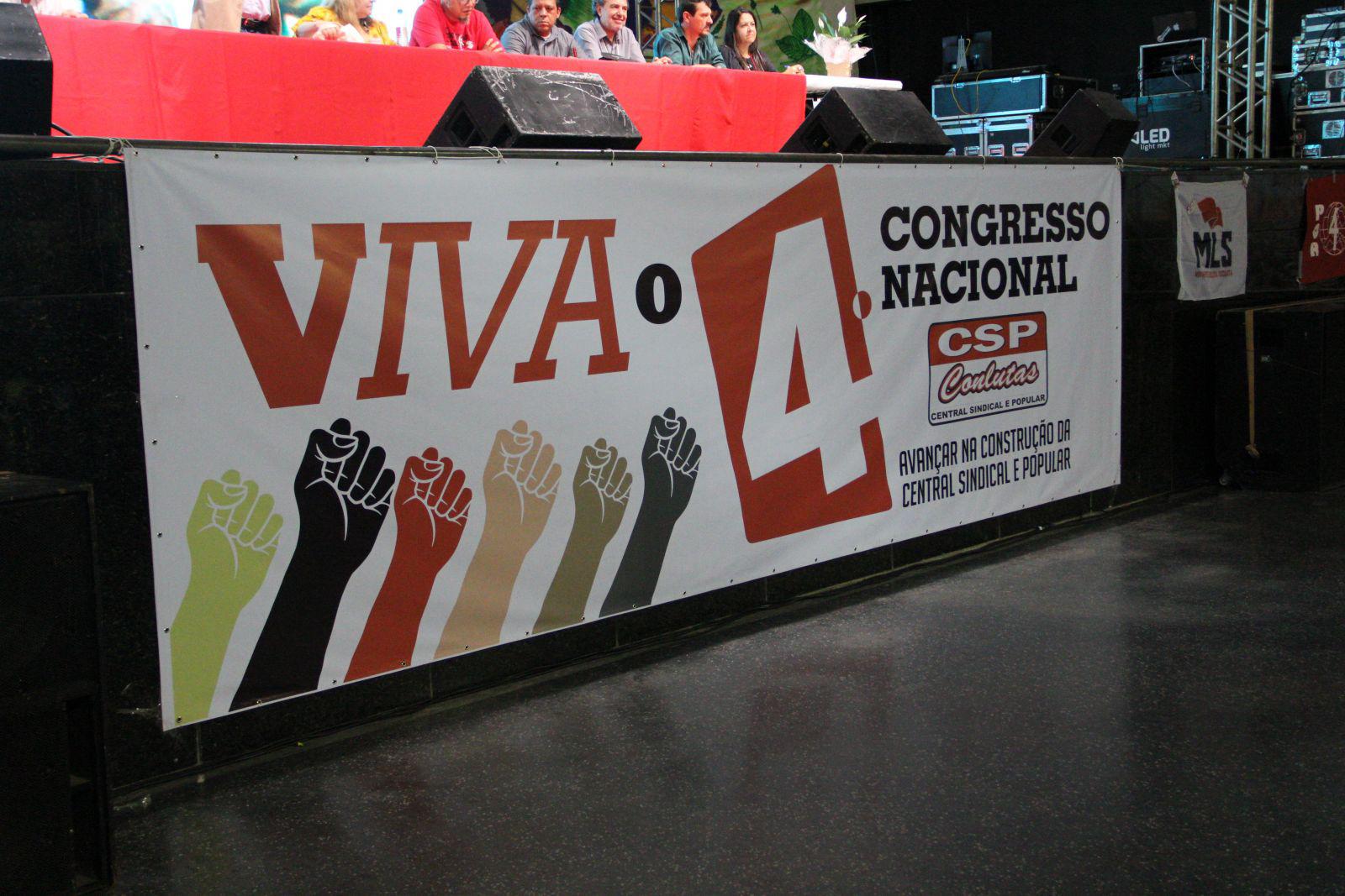 ANDES-SN presente no IV Congresso da CSP-Conlutas que começa em Vinhedo/SP