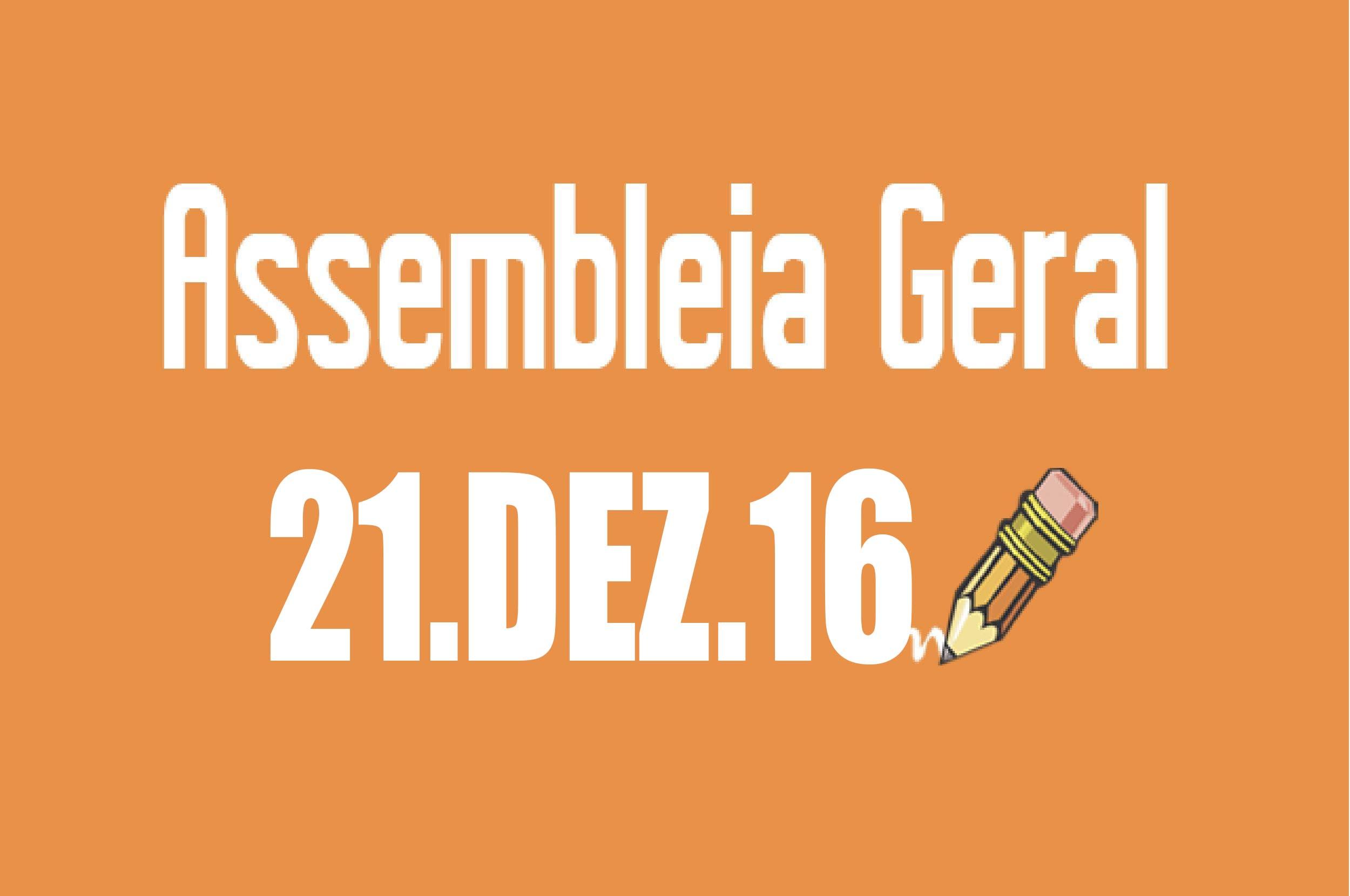 EDITAL DE CONVOCAÇÃO DE ASSEMBLEIA EXTRAORDINÁRIA - 21 DE DEZEMBRO DE 2016