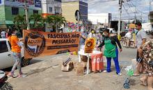 Adusb realiza ação da campanha A Solidariedade Resiste durante a Jornada de Lutas