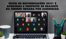 Pauta de reivindicações 2021 é aprovada e proposta de reajuste da Unimed negada por assembleia