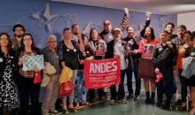 Na terça, 9, Diretoria do ANDES-SN ocupou corredores da Câmara contra a Reforma da Previdência