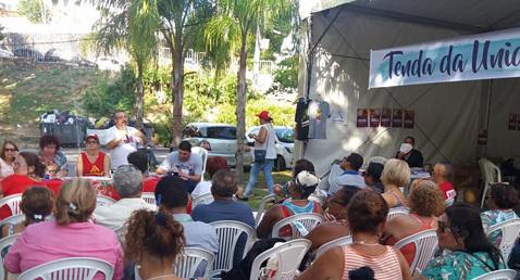Tenda da Unidade no FSM debateu contrarreformas e perspectiva dos trabalhadores