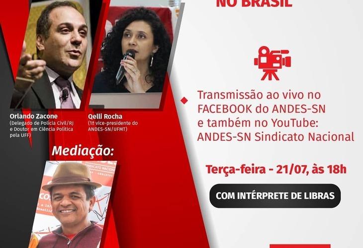 Transmissão ao vivo: Racismo estrutural e as políticas de segurança no Brasil