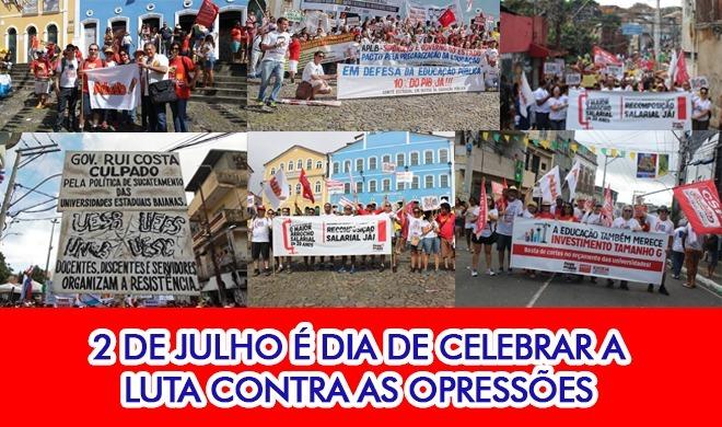 2 de julho é dia de celebrar a luta contra as opressões