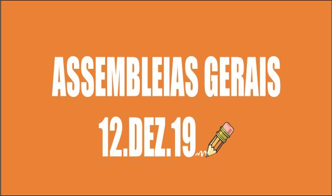 EDITAIS DE CONVOCAÇÃO DE ASSEMBLEIAS DA ADUSB - 12 DE DEZEMBRO DE 2019