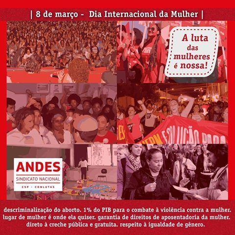 8 de Março: Mulheres trabalhadoras unidas pelo fim da sociedade capitalista