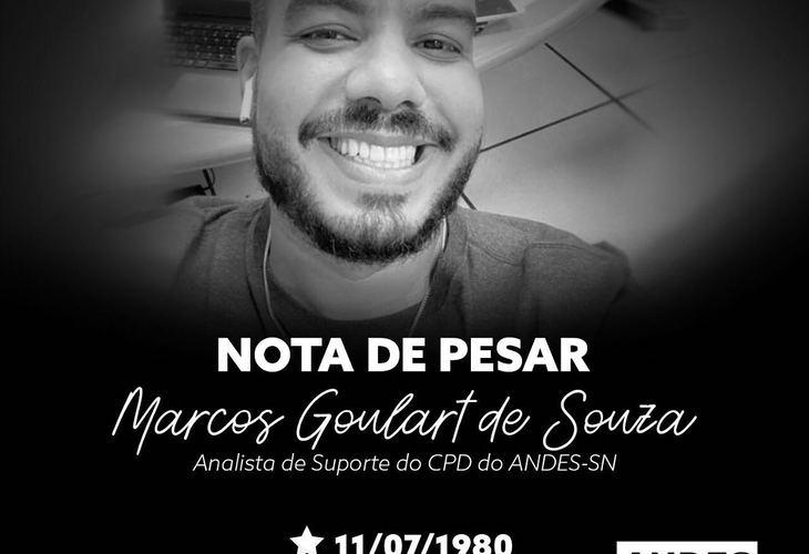 Nota de pesar - Marcos de Souza