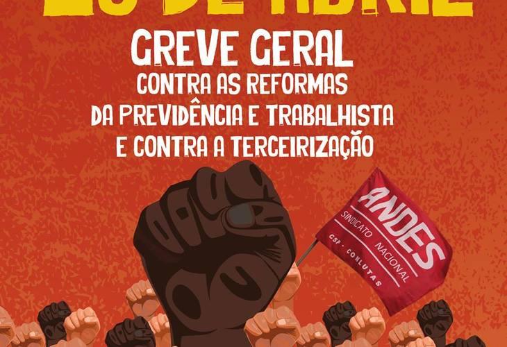 Assembleia da Adusb decide por participação na greve geral do dia 28 de abril