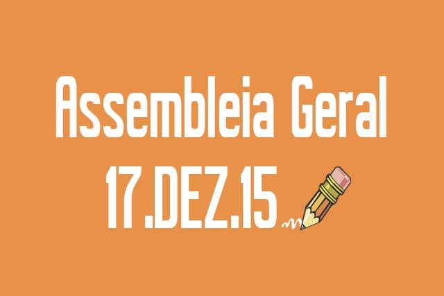 EDITAL DE CONVOCAÇÃO DE ASSEMBLEIA EXTRAORDINÁRIA - 17 de dezembro de 2015