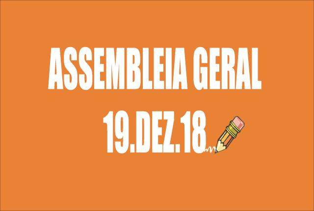 EDITAL DE CONVOCAÇÃO DE ASSEMBLEIA EXTRAORDINÁRIA - 19 DE DEZEMBRO DE 2018