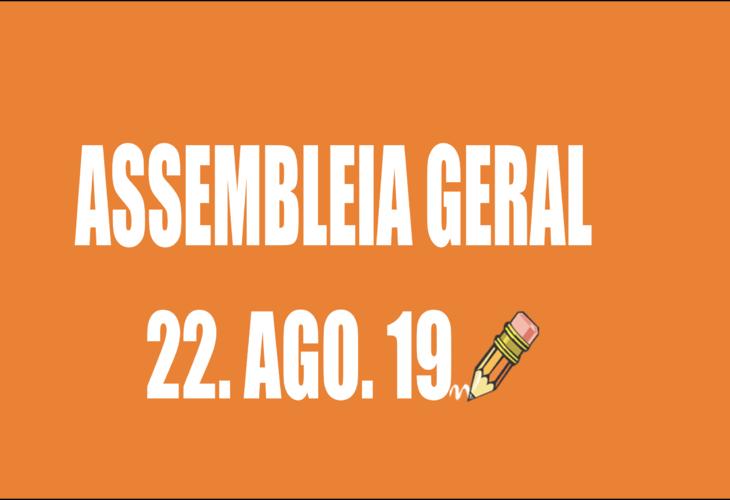 EDITAL DE CONVOCAÇÃO DE ASSEMBLEIA EXTRAORDINÁRIA - 22 DE AGOSTO DE 2019