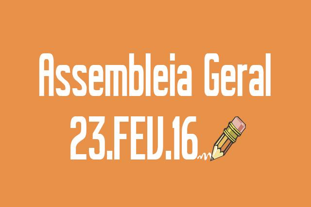 EDITAL DE CONVOCAÇÃO DE ASSEMBLEIA ORDINÁRIA - 23 DE FEVEREIRO DE 2016