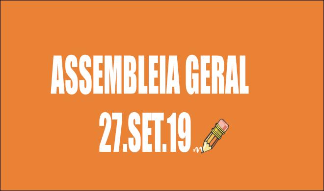 EDITAL DE CONVOCAÇÃO DE ASSEMBLEIA EXTRAORDINÁRIA - 27 DE SETEMBRO DE 2019
