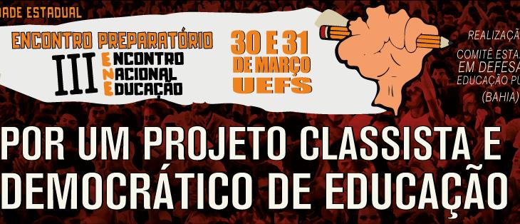 Pré-ENE Bahia: Inscrições prorrogadas até 25 de março