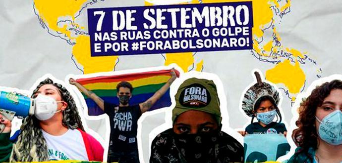 7 de setembro já tem mais de 130 atos marcados: Fora Bolsonaro! Ditadura nunca mais!