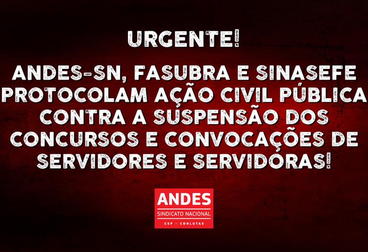 Confira ação protocolada pelo Andes na tarde de terça-feira, 18