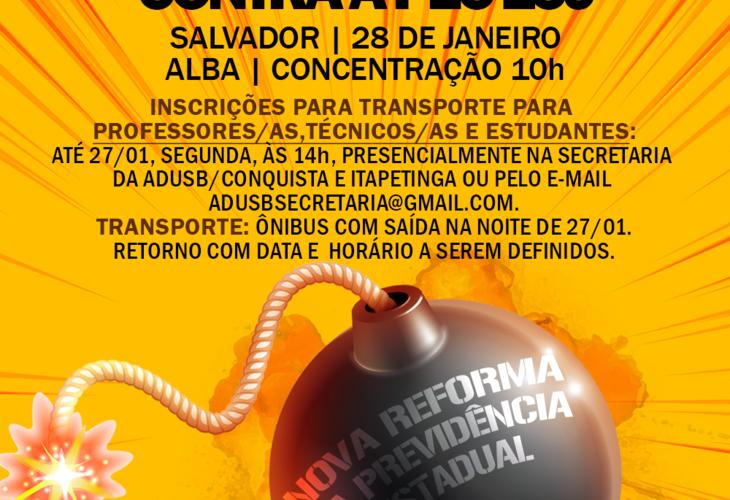 Participe das mobilizações na Alba, na terça (28/01), contra a PEC 159!