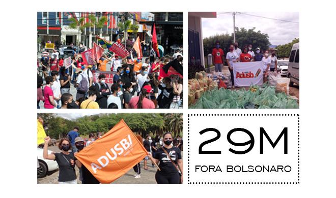 Fora Bolsonaro: Adusb fortalece protestos durante o 29 de maio