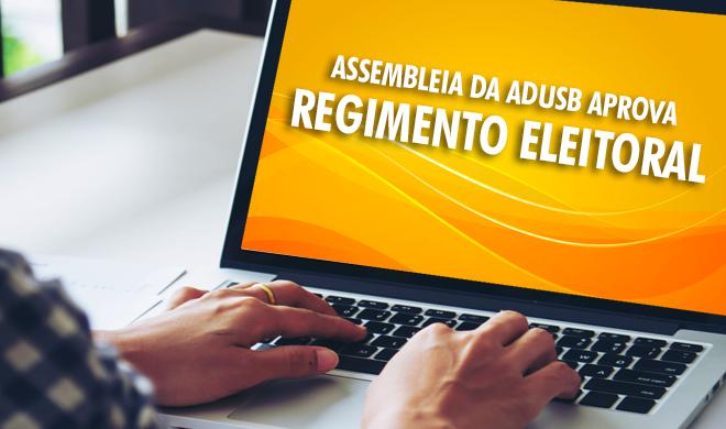 Assembleia da Adusb aprova regimento eleitoral
