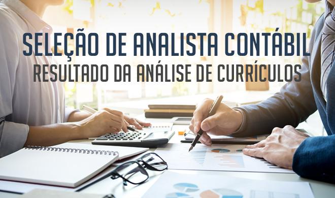 Seleção para analista contábil: Resultado da análise dos currículos