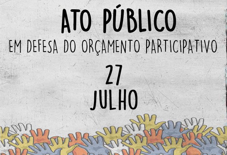 Comunidade acadêmica realizará ato público pelo orçamento participativo na segunda (27)