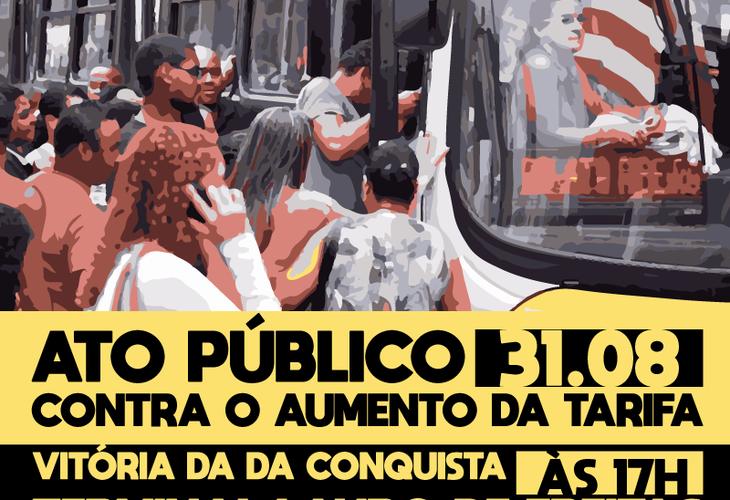 Transporte: Ato público acontece nesta sexta-feira (31) em Vitória da Conquista
