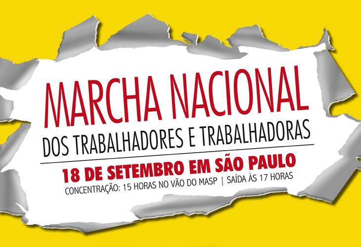 CSP-Conlutas convoca Marcha Nacional dos Trabalhadores e Trabalhadoras