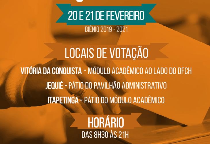 Eleição Adusb 2019-2021: Locais de votação
