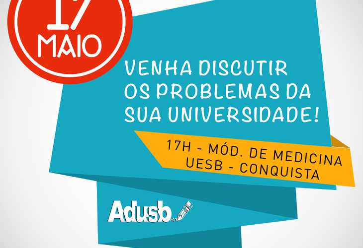 Adusb convida comunidade universitária para plenária