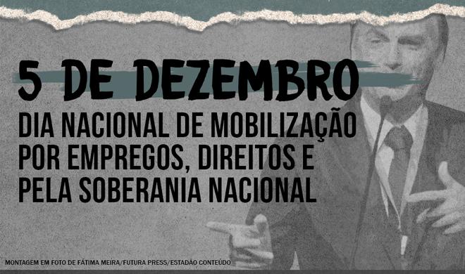 Em dia de luta, trabalhadores dizem não à carteira verde e amarela e ataques de Bolsonaro