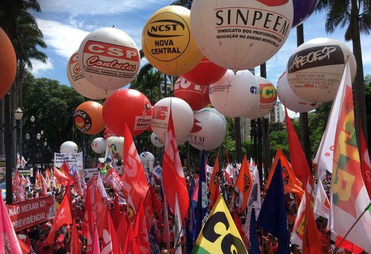 Ato reúne 10 mil em SP e centrais dão recado: vai começar a luta para barrar a Reforma da Previdência
