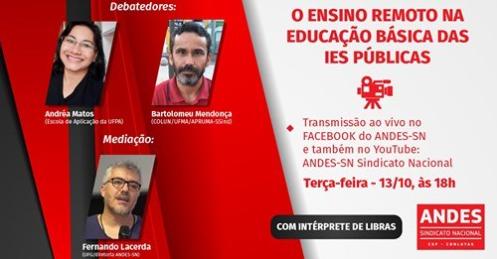 Transmissão ao vivo | Ensino Remoto na educação básica das IES públicas