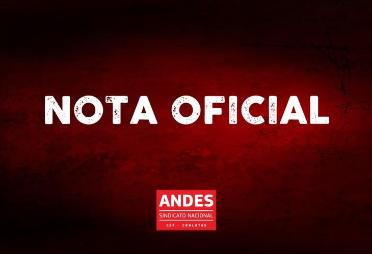Nota do ANDES-SN favorável ao pedido de impedimento de Bolsonaro apresentado por movimentos sociais, entidades e partidos políticos
