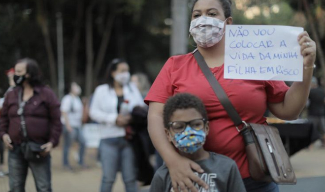 Pesquisa aponta que 66% da população é a favor do fechamento das escolas para conter a pandemia