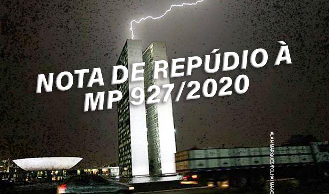 NOTA DA DIRETORIA DA ADUSB DE REPÚDIO À MP 927/2020