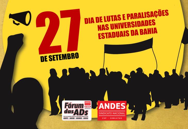 Docentes realizam paralisações e manifestações nesta quinta-feira (27)