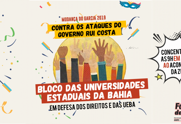 Mudança do Garcia: Fórum das ADs convoca categoria para participar do bloco das Universidades Estaduais