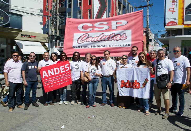 Adusb presente no Dia Nacional de Paralisação em defesa dos direitos trabalhistas