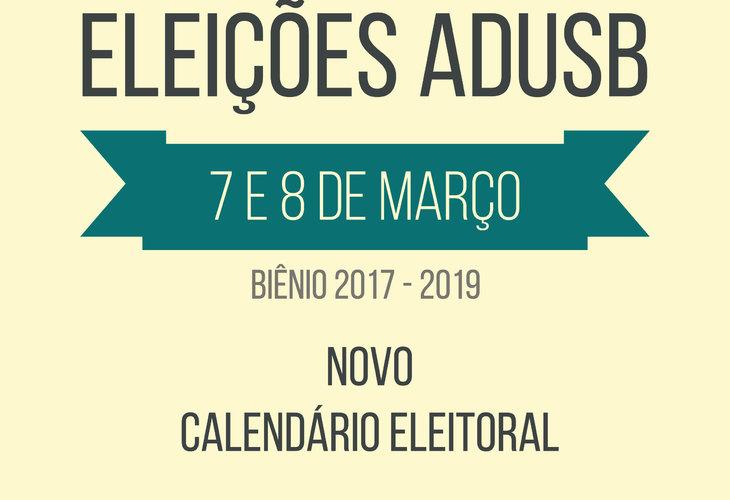 Eleições da Adusb: Comissão define novo calendário